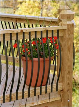 Deck Railing Ideas Easy | made easy iron deck railing designs simplified aluminum deck rails ...
