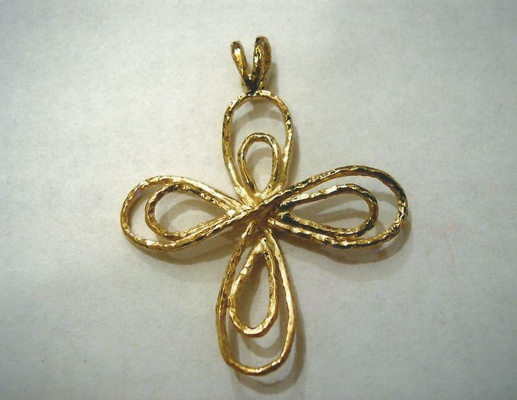 Ciondolo in oro giallo a forma di fiore - Yellow gold pendent flower shaped