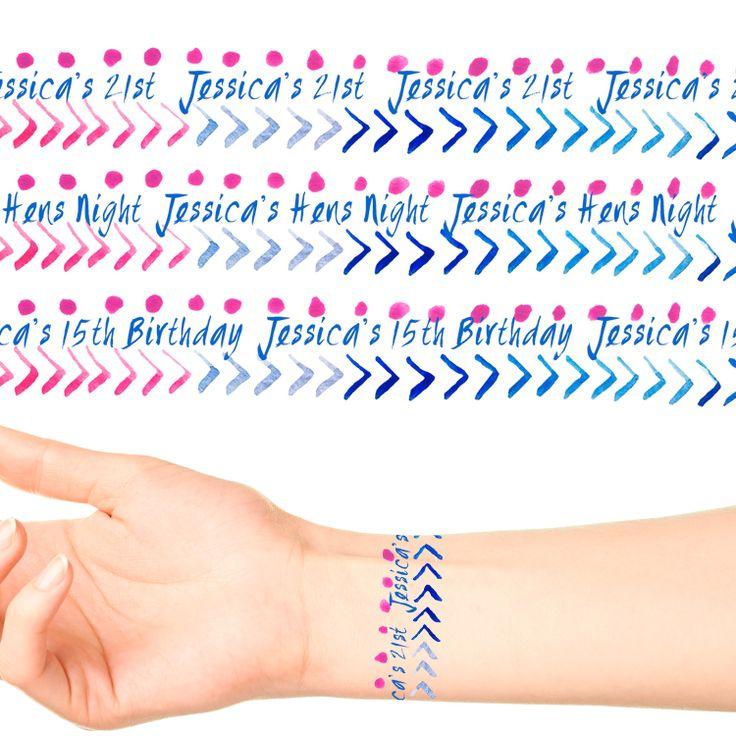 Wrist Band Temporary Tattoos #1095 (17 x 20cm Bands)