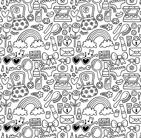 Doodle Patterns by Jake McDonald, via Behance