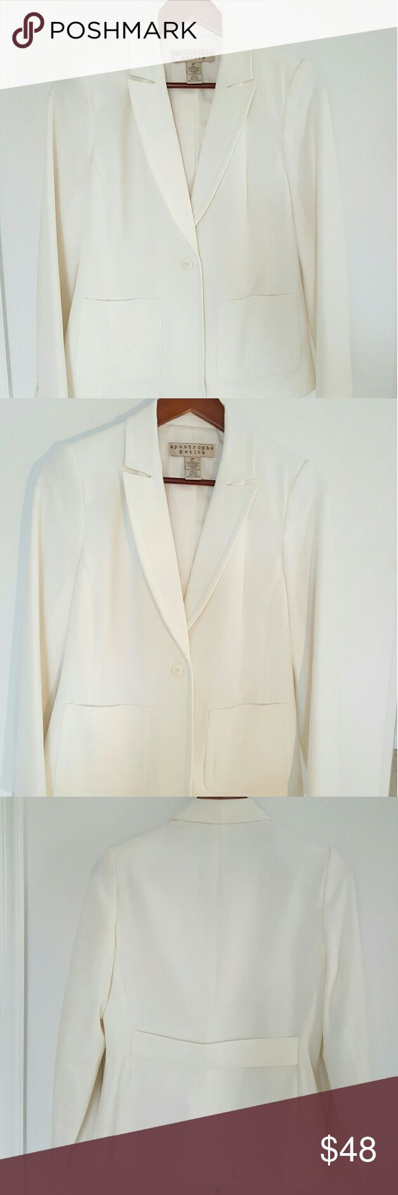 Apostrophe petite blazer Like new very classy rich in material not a cheap stuff. Color is off white Apostrophe Jackets & Coats Blazers