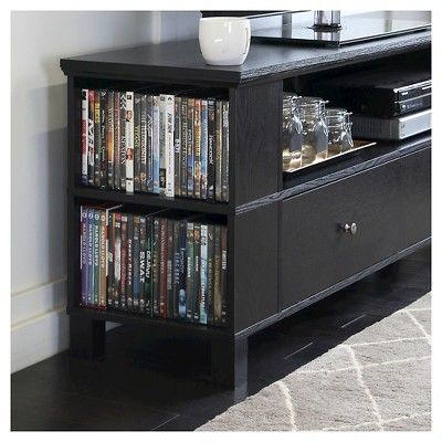Wood TV Stand With Removable Mount - Black (60) - Walker Edison