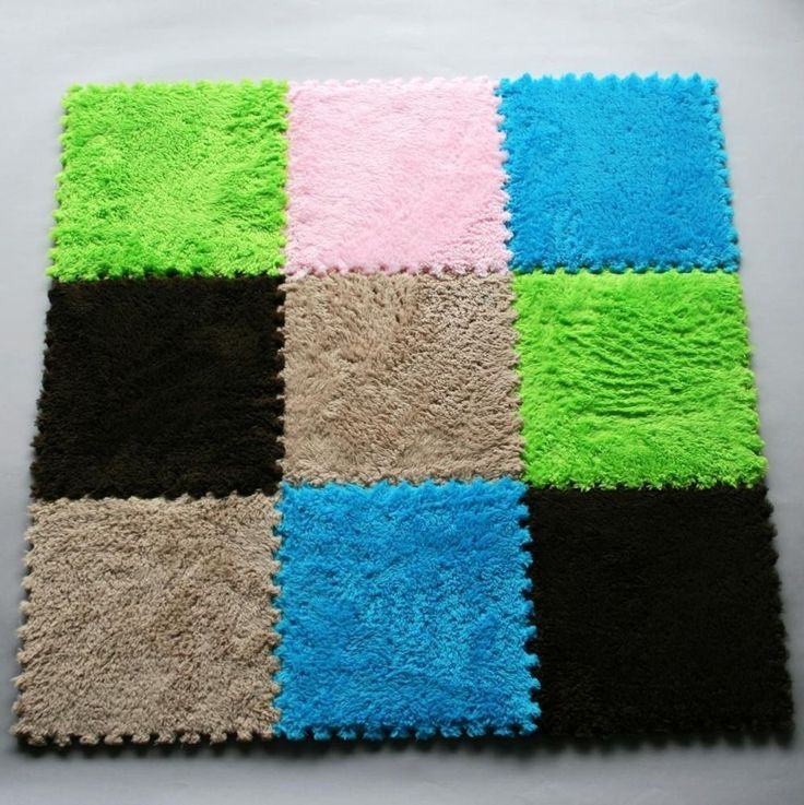 New 9pcs Pile Floor Covering Eva Foam Puzzle Floor Mats