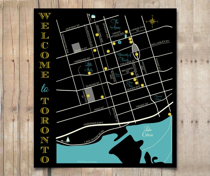 Custom wedding map for out of town bags visitor guide for Location design