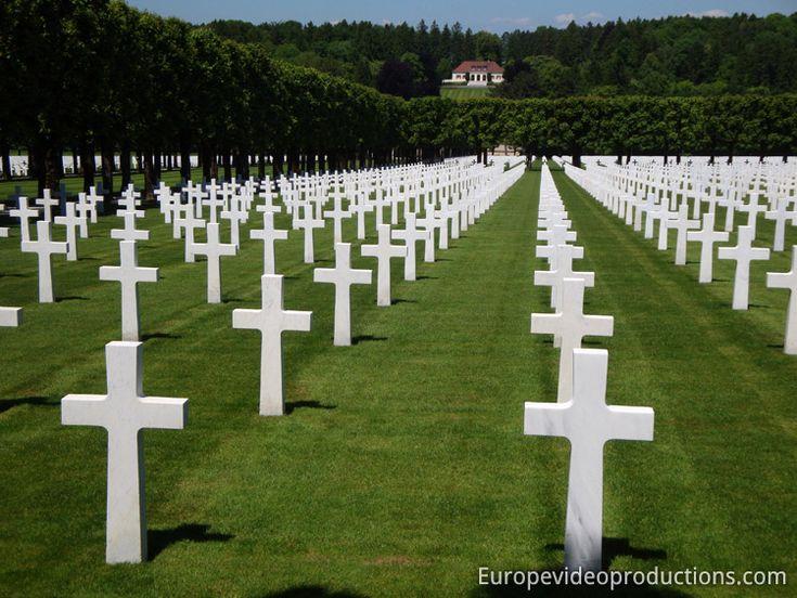 Cimetière américain et mémorial de Romagne-sous-Montfaucon près de Verdun en Lorraine en France