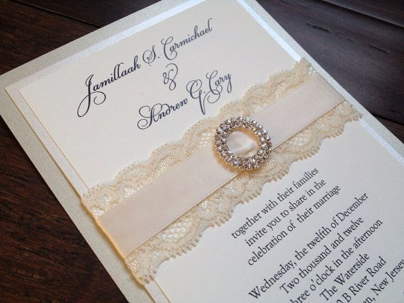 Look At This Invitation. Sooo Beautiful Too. Lace And Burlap Wedding  Invitation, Rustic Elegance, Champagne And Ivory, Rustic Chic, Rhinestone  Slider   Emma