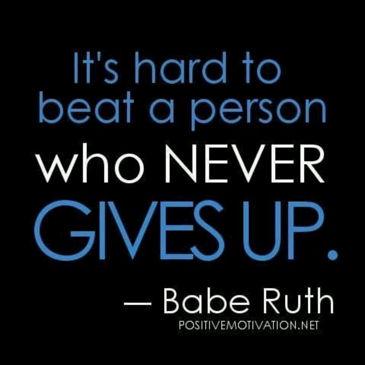 Persistence Motivational Quotes: Babe Ruth Quotes