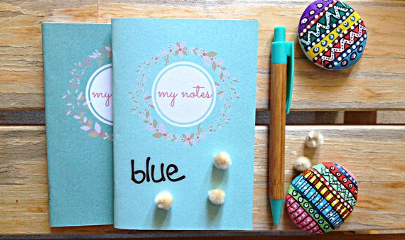 Set of 2 Coloful Handmade notebooks Personalized by cheapsmarttoys