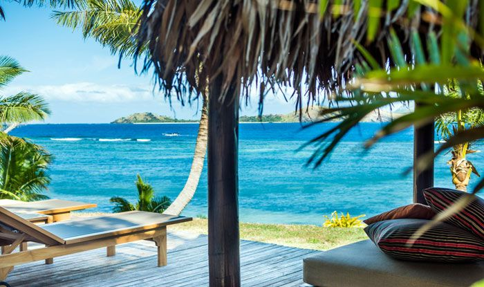 8 Day Fiji Islands Couples Bliss incl. boutique island resort, spa ritual, free helicopter transfers & more. IslandsInTheSun.com #fijiislands #fijispavacations #tokoriki #bure