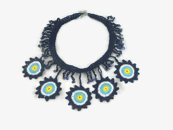Evil Eye  Necklace  /  Statement Jewelry / Boho by Nakkashe