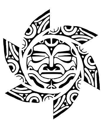 A sun with tribal tattoo design