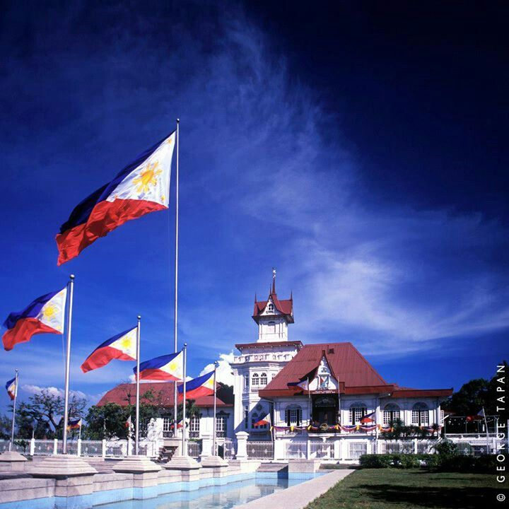 Kawit, Cavite, the Flag Capital of the Philippines. This is the Aguinaldo Shrine where the Philippines first declared its independence & where the Philippine flag was first unfurled. Do you know that the Philippines is Asia's FIRST Republic?