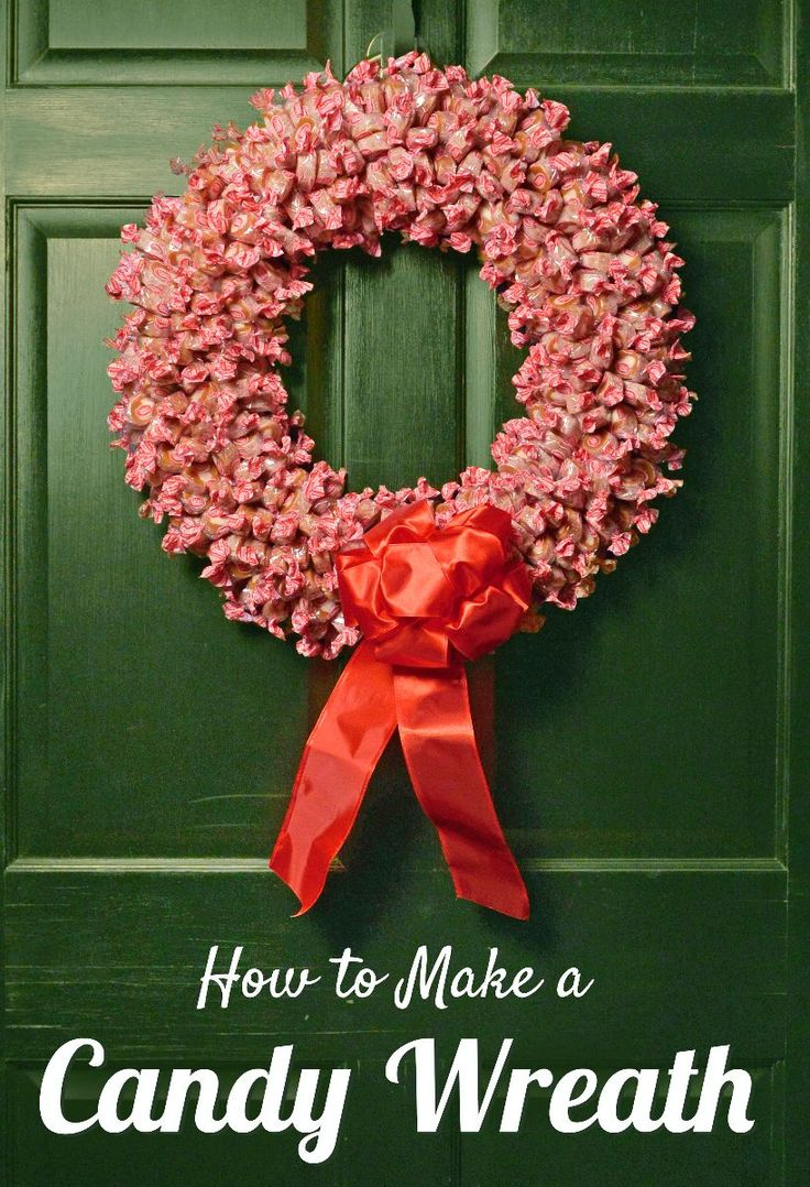 What a SWEET idea! Make a red and white candy wreath with Goetze's Caramel Creams for the holidays! When you eat the caramels, leave the wrappers behind. It looks like it's blooming!