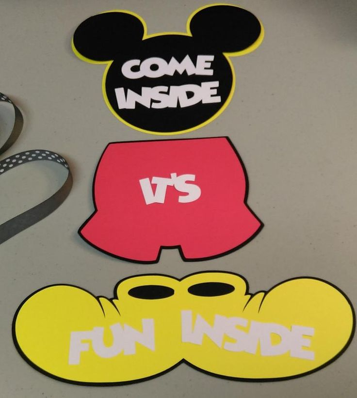 Mickey Mouse Door Sign, DIY Mickey Mouse Banner, Mickey