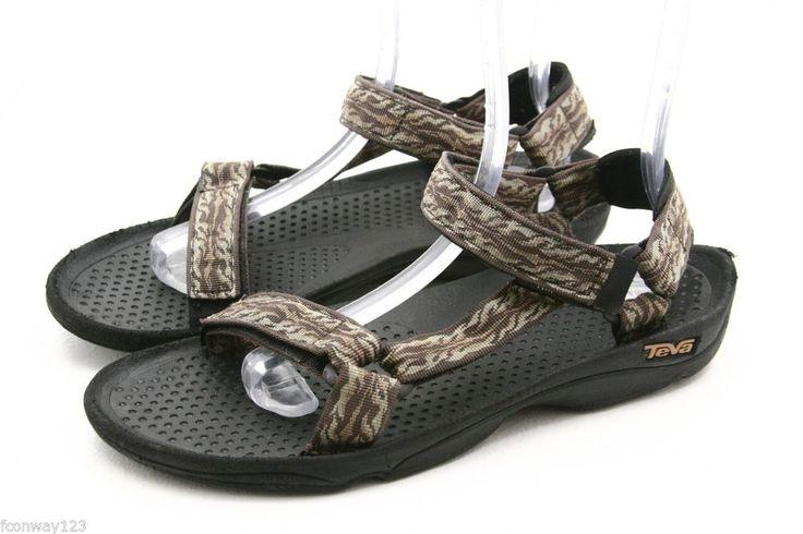 TEVA mens sandals Size 11 HURRICANE khaki waterproof river water sport shoes #Teva #SportSandals