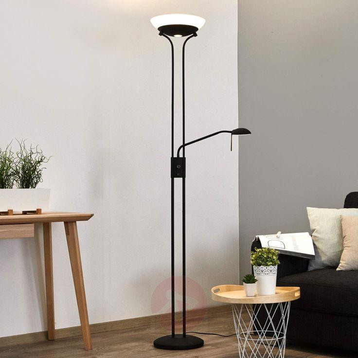 Hervorragende Zusatzbeleuchtung für Lesesessel, Couch und den persönlichen Lieblingsplatz. LED-Deckenfluter Denise mit integriertem Dimmer und Leseleuchte.