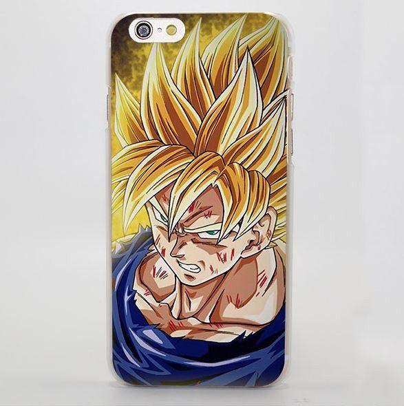 Dragon Ball Goku Super Saiyan Damage Fight iPhone 4 5 6 7 Plus Case  #DragonBall #Goku #SuperSaiyan #Damage #Fight #iPhone7Case