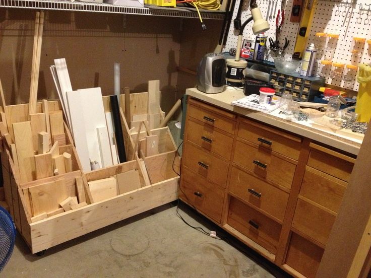 Mobile lumber storage cart woodworking projects plans for Mobile lumber storage rack plans