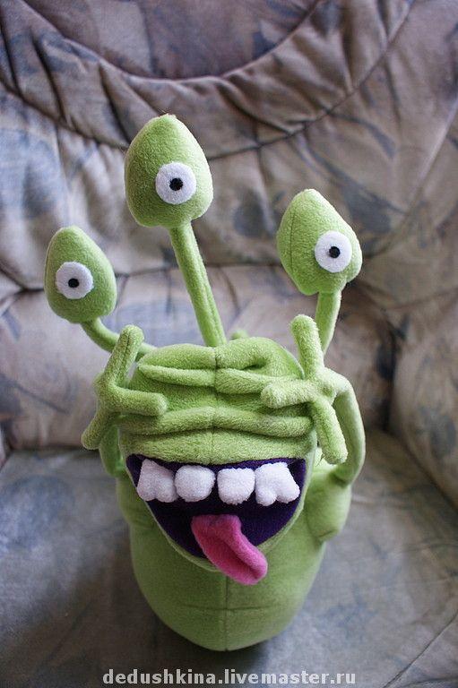 Купить Микроб Доместос - авторская игрушка, текстильная игрушка, реклама, сказочный персонаж, салатовый, микроб