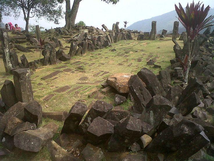 Gunung Padang Megalith Site, Cianjur, West Java, Indonesia.  Photo Mohammad fadli