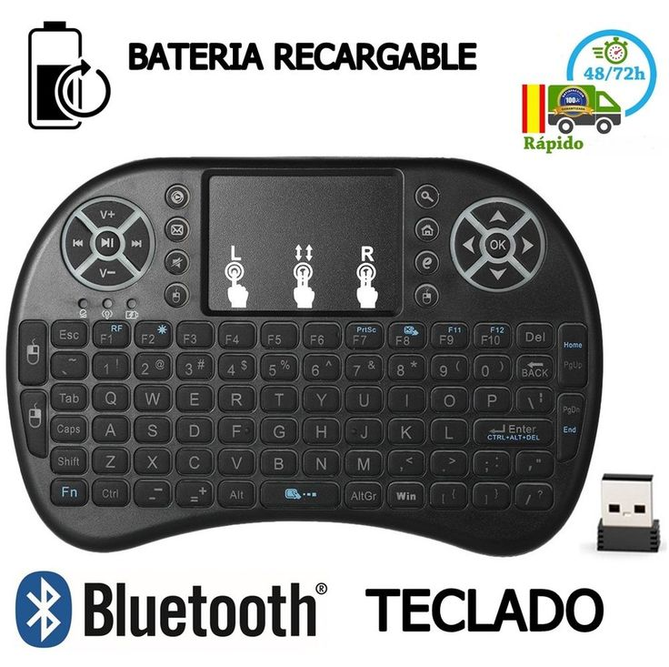 Teclado Inalambrico MINI Smart TV  con Touchpad Bluetooth Tele NEGRO smart tv