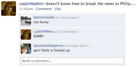 Yes!  Let the April Fools Joke begin!: Favorite Places,  Website, Funny Facebook, Awesome Random, Books Worth, Facebook Stuff, Funny Stuff, April Fools Jokes, Diet Stuff