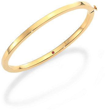 Roberto Coin 18K Yellow Gold Oval Bangle Bracelet on shopstyle.com