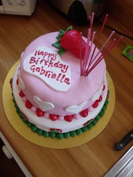 Gabbi's 1st birthday cake. Strawberry Shortcake theme