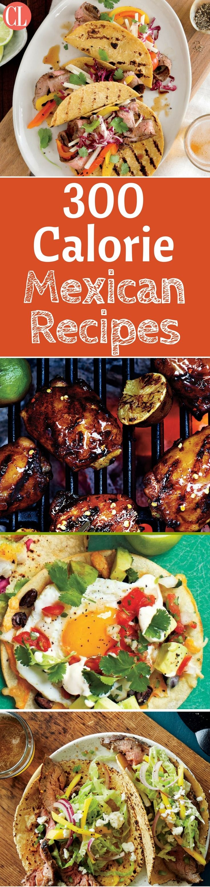 This collection of low-calorie Mexican recipes features all your favorites, including tacos, burritos, and more. We'll get you started with this collection of Mexican-inspired recipes that are short on calories but big on flavor. The only arithmetic you'll be responsible for is subtracting pounds. | Cooking Light