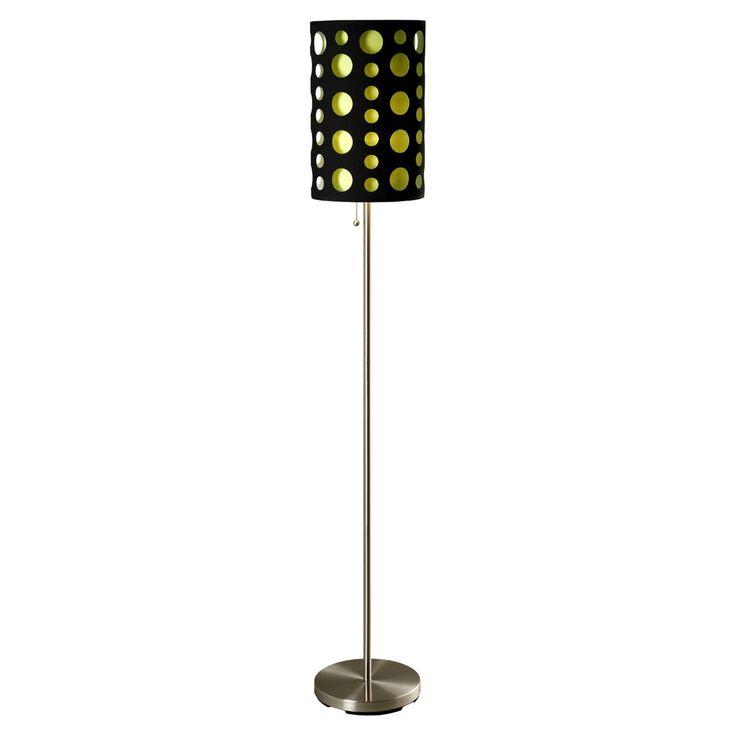 Ore International 9300F Modern Retro Floor Lamp - 9300F-BK-RD