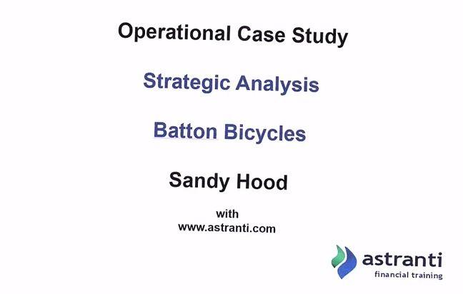 CIMA - Operational Case Study