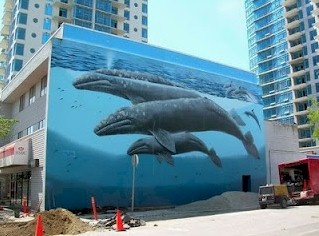 WYLAND WALL MURAL in White Rock BC...Art art - my new home shortly