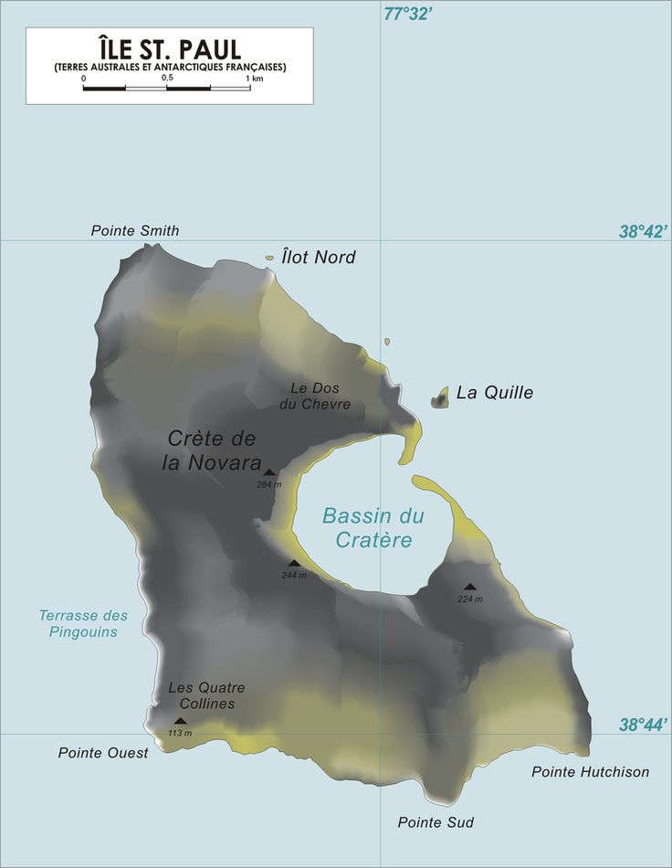 Île Saint-Paul (Saint Paul Island) is an island forming part of the French Southern and Antarctic Lands (Terres australes et antarctiques françaises, TAAF) in the Indian Ocean.
