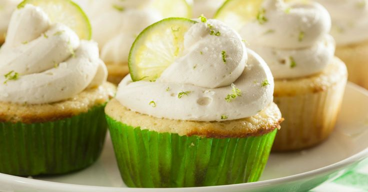 Taco night in your household? Polish dinner off with a decadent margarita cupcake!!