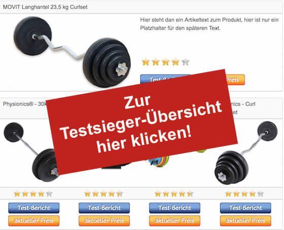 Langhantel Testsieger Tabelle-Vergleich Hantelbank mit Gewichten - http://www.hantelbank-kaufen.com