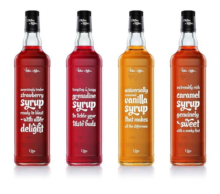 293714_10150969507527005_439278448_n.jpg (750×664): Sweet Syrupy, Inspiration, Package Design, Syrup Bottles, Food, Packaging Design, F26 Studio, Syrupy Talk, Miller Syrup