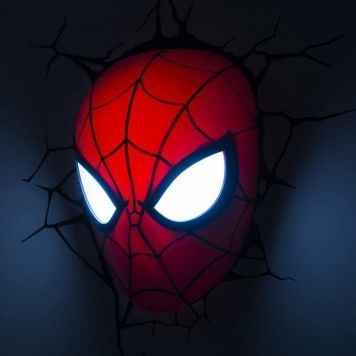 SPIDERMAN MASK 3D WALL LIGHT £29.95  Amazing!  Click Pic To Get It Here!!!
