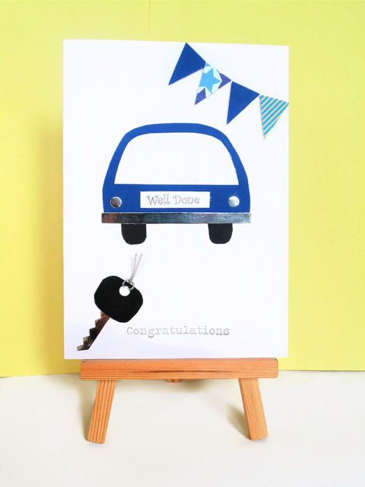Driving test card congratulations card well done card