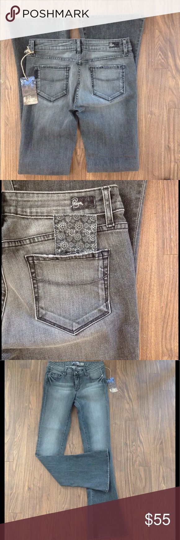 """PAIGE premium denim jeans LOU LOU WILDER sz27 NWT Paige premium LOU LOU denim jeans. Size 27. Inseam is about 34.5"""". Has a extra little pocket inside the back pocket. I pull it out so you can see. NWT. Style is wilder. Please look at all pictures before you purchase. And ask any questions. Thanks Paige Jeans Jeans"""