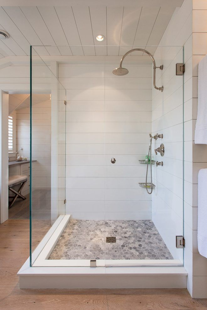 Shower Tile That Looks Like Shiplap Farmhouse Shower