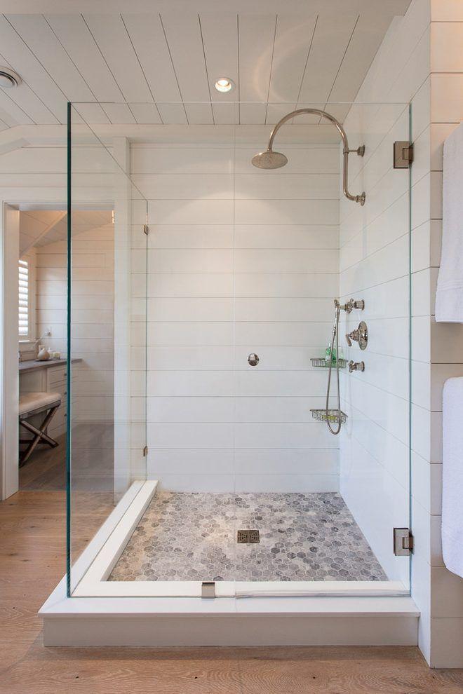 Shower tile that looks like shiplap | Farmhouse shower ... on Rustic:s9Dkpzirpk8= Farmhouse Bathroom  id=31024