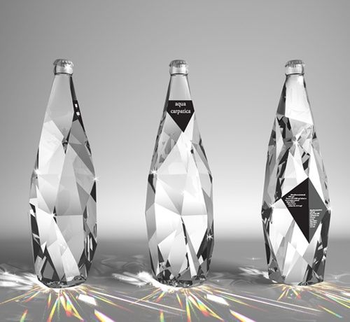 best bottle package design! water... looks like diamonds or crystals.