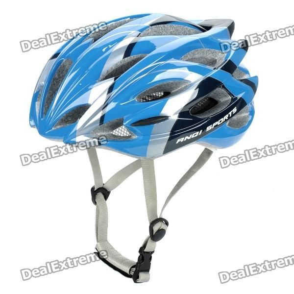 Color: Blue + Black + Silver - Material: EPS + PC - Lightweight and comfortable for wearing - High air permeability performance - Provides best protection during cycling and other sport activities - Head circumference: 58~63cm http://j.mp/1oTLZm4