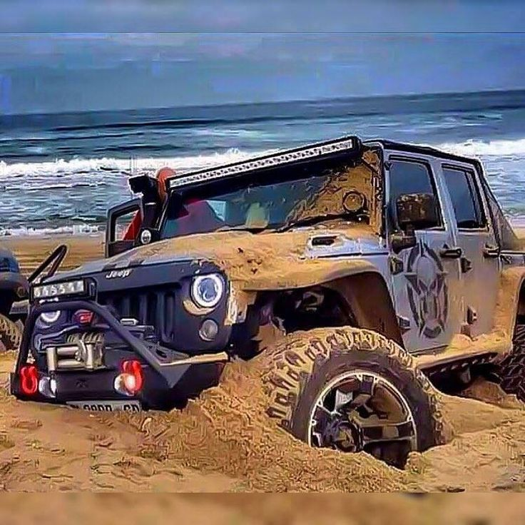 When u think it is stuck remember it's a Jeep!! Dig and throttle but always remember it's a Jeep