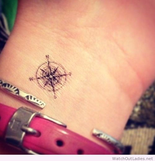Small compass tattoo idea