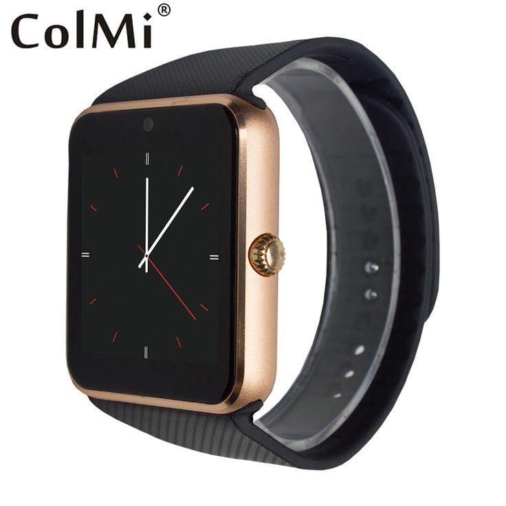 Gt08 colmi jam tangan pintar bluetooth konektivitas untuk iphone android telepon pintar elektronik dengan kartu sim push pesan