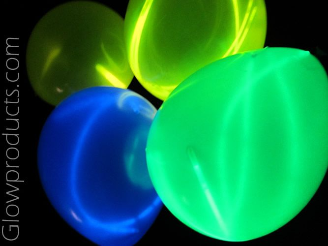 Glow Necklaces Inside Balloons For A Super Cool Spaghetti Effect Glowproducts
