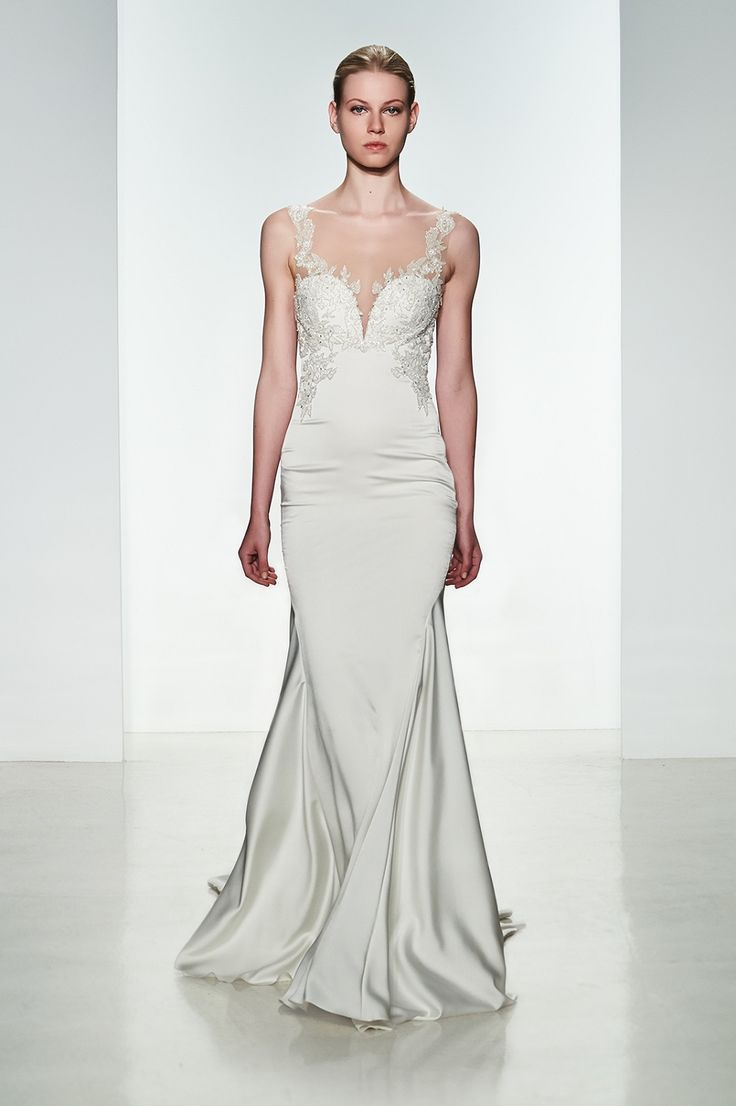 Kenneth Pool Wedding Dresses 2015 Spring. To see more: http://www.modwedding.com/2014/06/16/kenneth-pool-wedding-dresses-2015-spring/ #wedding #weddings #kennethpool