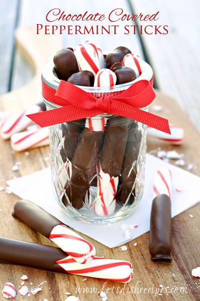 Chocolate Covered Peppermint Sticks on MyRecipeMagic.com