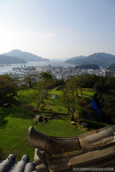 The beautiful view from the top of Uwajima Castle.